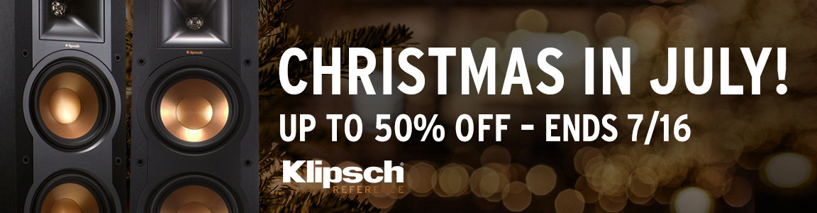 Klipsch Christmas in July - save up to 50%