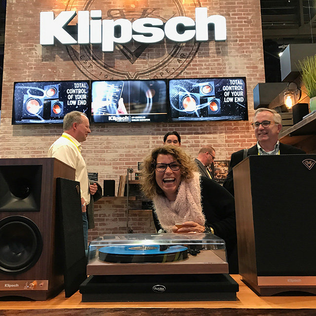 Steph Keough in the Klipsch Display
