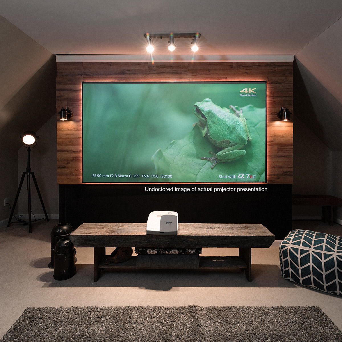 Elite Screens AR100H-CLR Aeon CLR Series 100 Ultra-Short-Throw Projector Screen with StarBright CLR Material