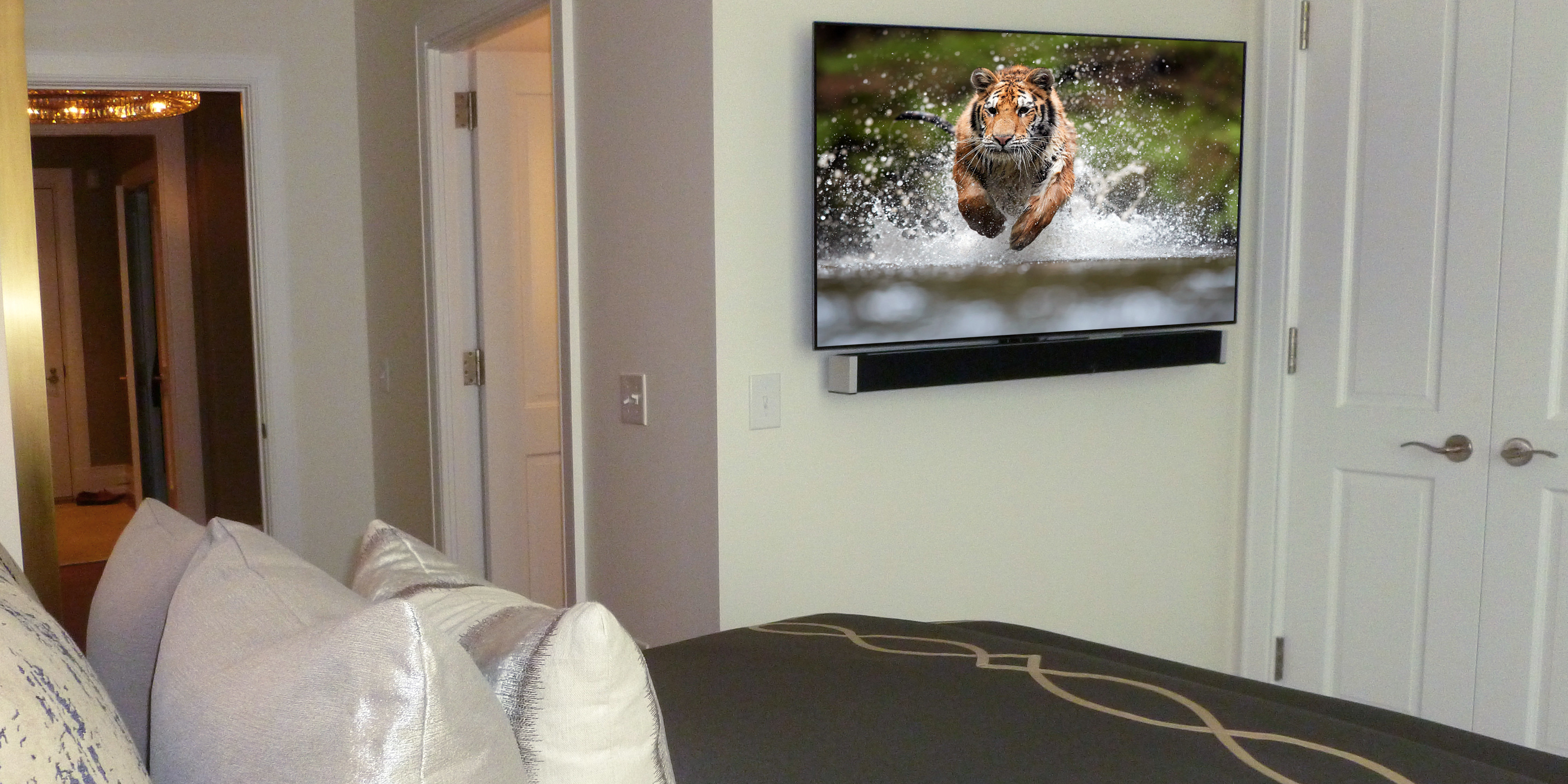 Guest room TV and sound bar