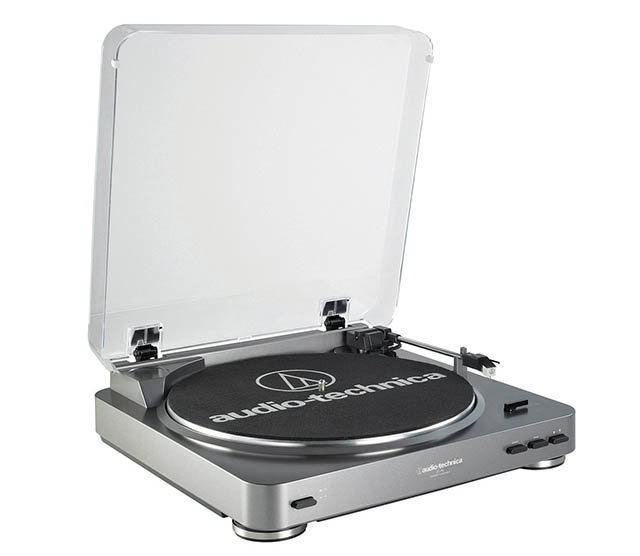 AudioTechnica AT-LP60 Fully Automatic Stereo Turntable System with Two Speeds