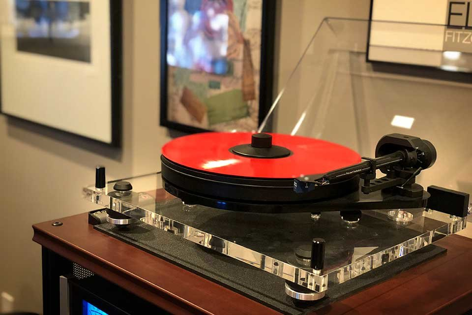 Adam and a Pro-Ject turntable