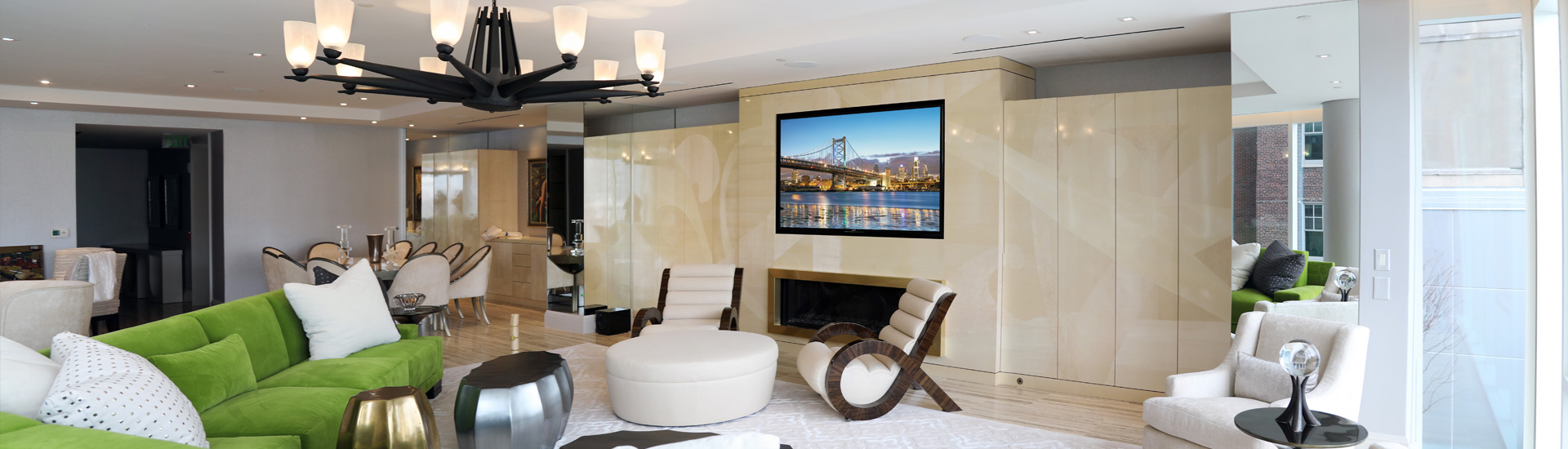 Lights, Audio, and Video in a Luxe Philadelphia Apartment
