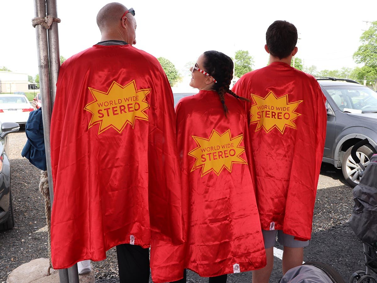 Jamie, Chad and Ryan show off their capes