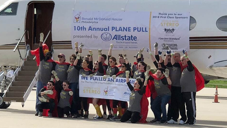 WWS Pulls a Plane for Ronald McDonald House Charities