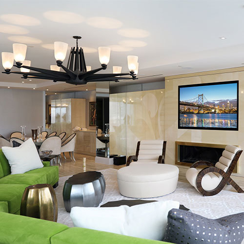 Lights, Audio, and Video in a Brand New Luxury Apartment