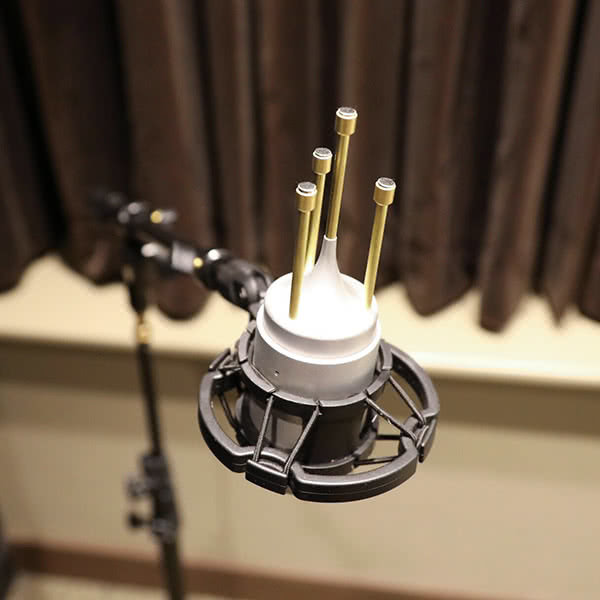 This specialized microphone measures sound in 3D space.