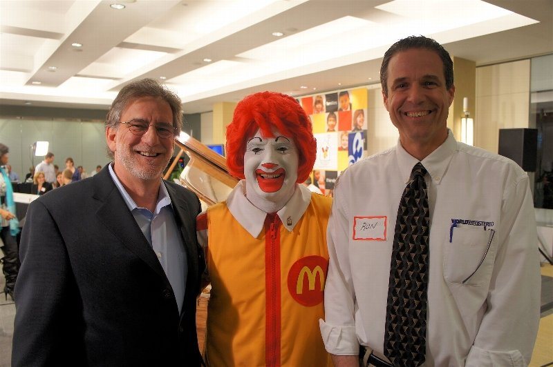 Bob and Ron at the Ronald McDonald House in Philadelphia