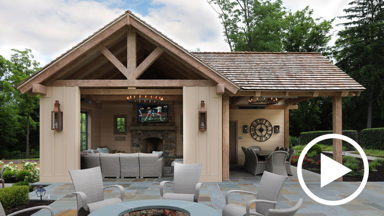 Building the Perfect Poolside Retreat with an Outdoor Seura TV and Sonance Landscape Speakers
