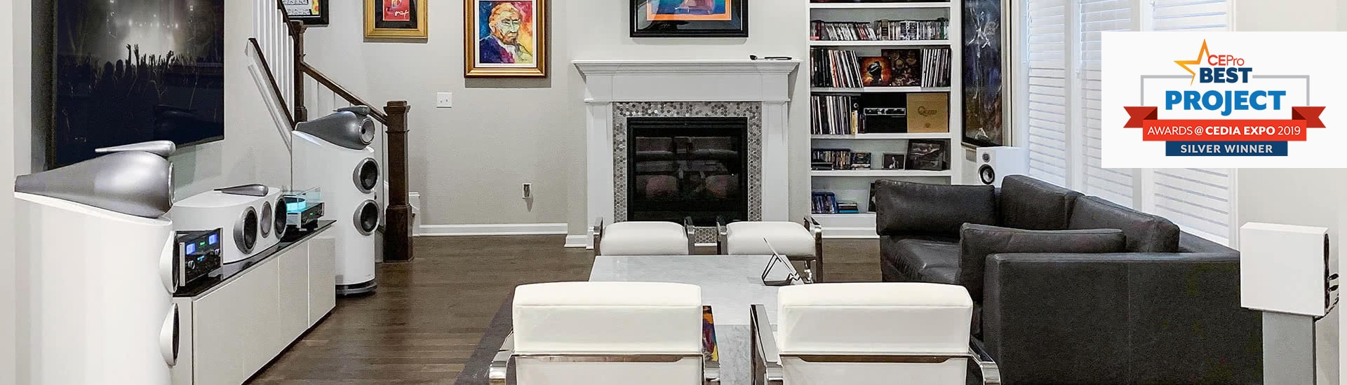 A 9.1 Channel Media Room Powered by Bowers & Wilkins, McIntosh, and Marantz