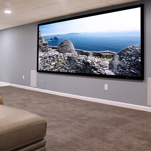 A 5.1.4 Dolby Atmos Basement Theater in Gladwyne, PA