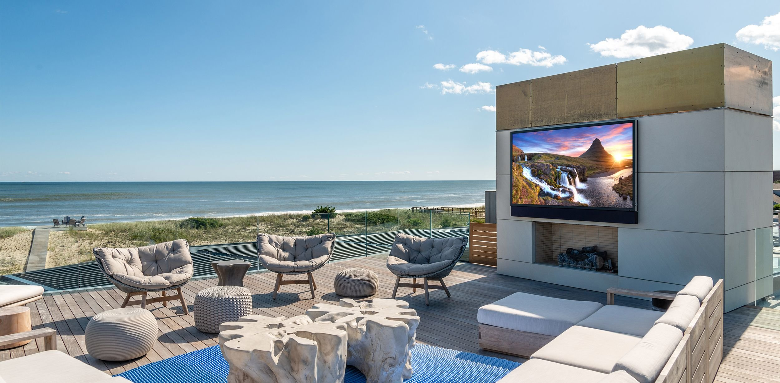 Outdoor Living Room by the ocean