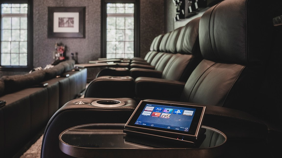 Home Cinema scene of leather seating
