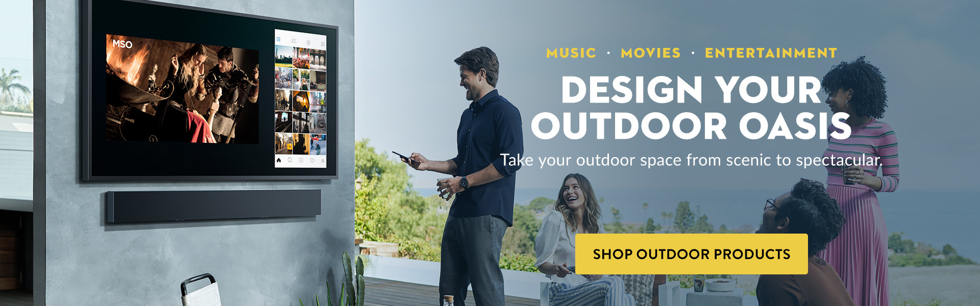 Shop outdoor speakers, tvs, and more