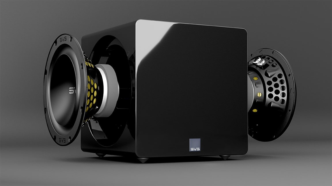 SVS 3000 Micro Subwoofer's drivers