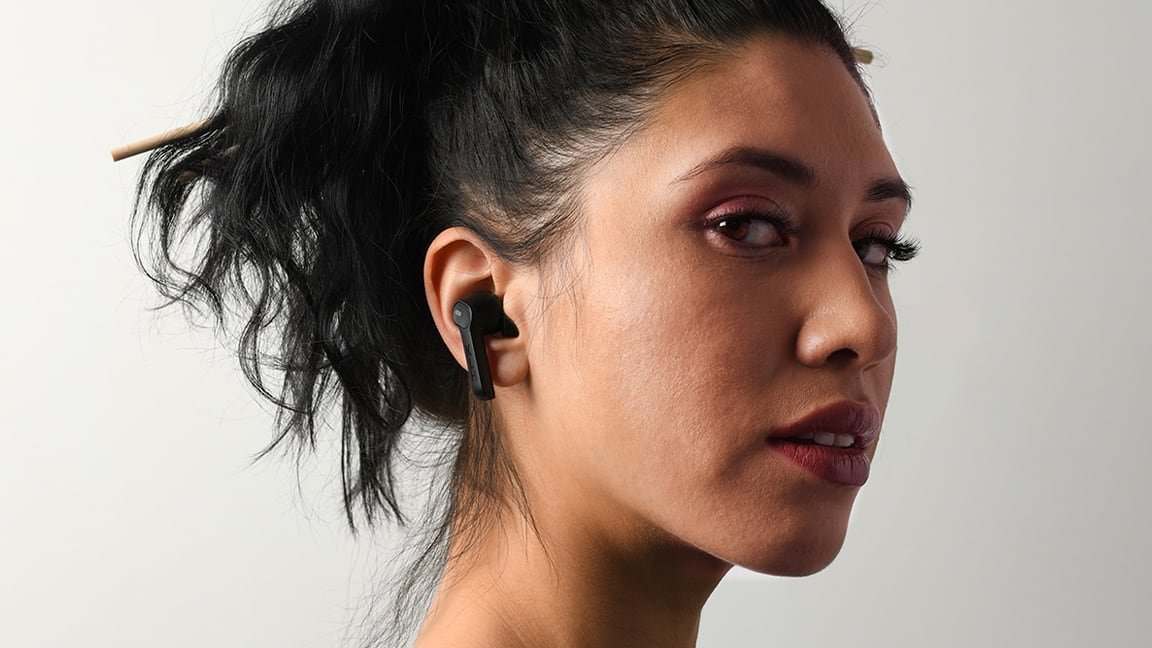 KLH Fusion True Wireless Noise-Cancelling Earbuds with Bluetooth
