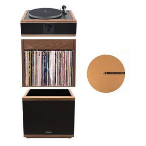 """Model-One Turntable with 10"""" Subwoofer, Upper Stand and 12"""" Cork Turntable Slipmat"""