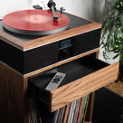 """View Larger Image of Model-One Turntable with 10"""" Subwoofer, Upper Stand and 12"""" Cork Turntable Slipmat"""