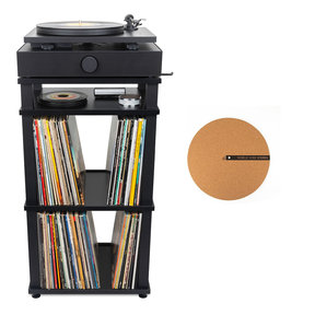 Spindeck Plug-and-Play Turntable Speaker System with Free Corkmat