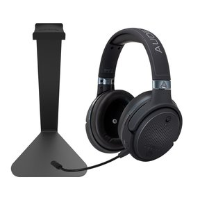 Mobius Audiophile Wireless Over-Ear Gaming Headset (Carbon) with Kanto H1 Stand (Black)