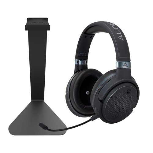 View Larger Image of Mobius Audiophile Wireless Over-Ear Gaming Headphones (Carbon) with Kanto H1 Stand (Black)