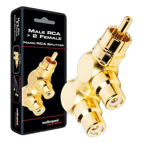View Larger Image of M22F-HRD RCA Male to 2 RCA Female Adaptor