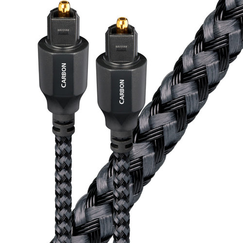 View Larger Image of Carbon Toslink Fiber Optic Digital Audio Cable - 4.92 ft. (1.5m)