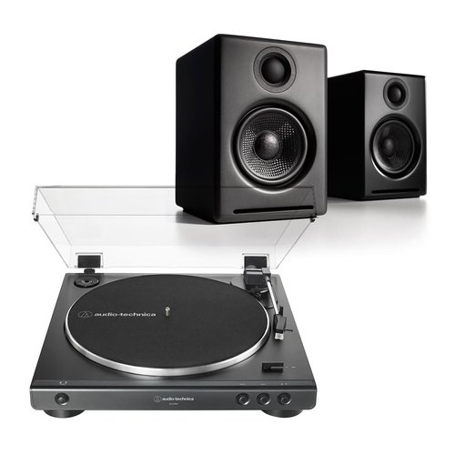 View Larger Image of AT-LP60X Fully Automatic Belt-Drive Stereo Turntable with Audioengine A2+ Wireless Speaker System