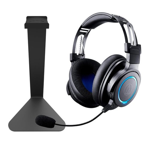 View Larger Image of ATH-G1WL Wireless Gaming Headset with Kanto H1 Stand (Black)