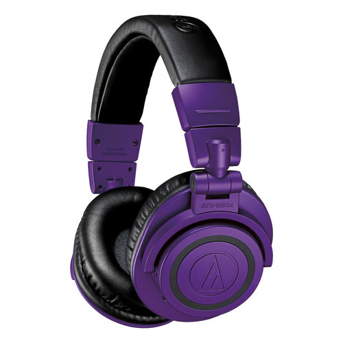 View Larger Image of ATH-M50xBT Wireless Over-Ear Headphones with Built-In Remote and Microphone (Purple and Black)