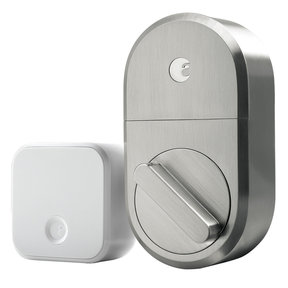 Smart Lock with Connect Wi-Fi Bridge (Satin Nickel)