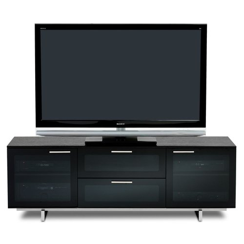 View Larger Image of Avion Noir Series II 8937 Triple Wide Enclosed Cabinet (Black Stained Oak)