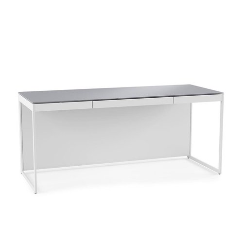 View Larger Image of Centro 6401 Desk with Keyboard Draw(Satin White)
