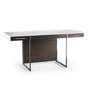 Format 6301 Desk (Charcoal with Satin White Finish)