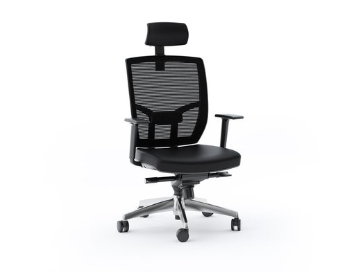 View Larger Image of TC-223 Leather Task Chair (Black)