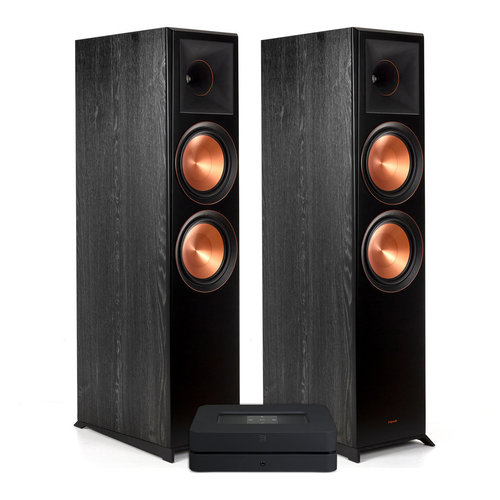 View Larger Image of Powernode 2i V2 Stereo Speaker System with Klipsch RP-8000F Reference Premiere Floorstanding Speakers - Pair (Ebony)