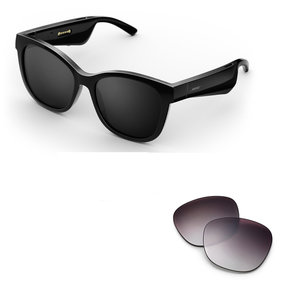 Soprano Cat-Eye Bluetooth Audio Sunglass Frames with Replacement Lense (Purple Fade)