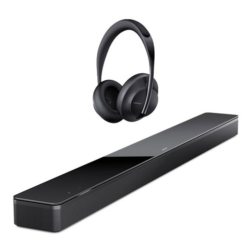 View Larger Image of Sound Bar 700 with Built-In Voice Control (Black) with Noise Cancelling Headphones 700 (Black)