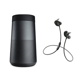 SoundLink Revolve Bluetooth Speaker with Bose SoundSport Wireless Earbuds (Black)