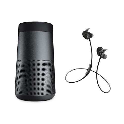 View Larger Image of SoundLink Revolve Bluetooth Speaker with Bose SoundSport Wireless Earbuds (Black)
