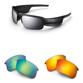 Tempo Sports Bluetooth Audio Sunglass Frames and Two Replacement Lenses (Road Orange and Trail Blue)
