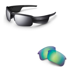 Tempo Sports Bluetooth Audio Sunglass Frames with Replacement Lenses (Trail Blue)