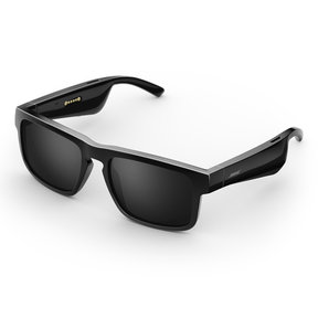 Tenor Rectangular Bluetooth Audio Sunglass Frames (Black)