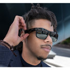 View Larger Image of Tenor Rectangular Bluetooth Audio Sunglass Frames with Replacement Lense (Mirrored Silver)