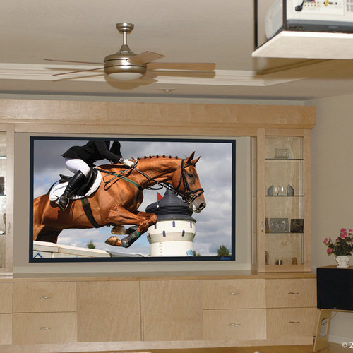 """View Larger Image of Fixed Frame 123"""" 16:9 Aspect Ratio Projector Screen (Neve)"""