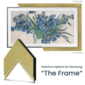 """Customizable Frame for Samsung The Frame 2021 43"""" TV (Contemporary Gold)"""