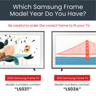 """View Larger Image of Customizable Frame for Samsung The Frame 2021 43"""" TV (Contemporary Gold)"""