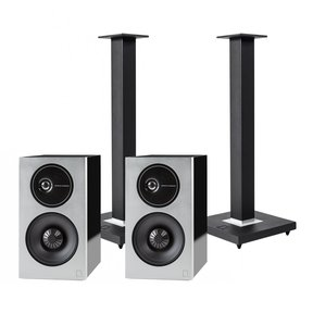 Demand Series D11 High-Performance Bookshelf Speakers with Speaker Stands - Pair