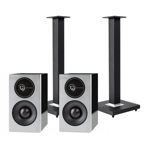 View Larger Image of Demand Series D11 High-Performance Bookshelf Speakers with Speaker Stands - Pair