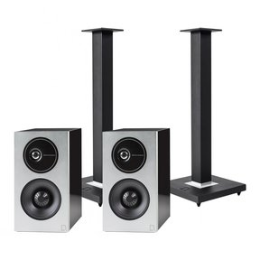 Demand Series D9 High-Performance Bookshelf Speakers with Speaker Stands - Pair